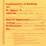 An agency agreement engaging Guy Mackenzie as a drummer
