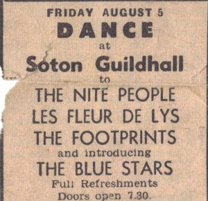 An advert for the Blue Stars