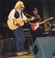 Albert Lee - By common consent one of the world's finest (and fastest!) guitar players - on acoustic with Gerry Hogan (pedal steel) on the Albert Lee signature Musicman