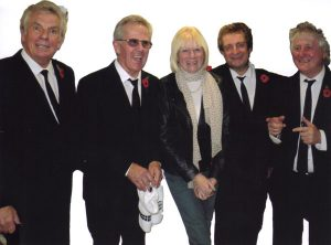Sally Pictured with Hermans Hermits
