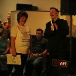 Matt Shepherd with Teresa Jolly wearing a t-shirt kindly supplied by Iain Reay
