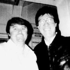 1980 Bill meets his No.1 fan (Hank Marvin) Gaumont (Mayflower) Theatre, Southampton