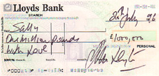 That £1M cheque but why didn't John Leyton sign one of his own??