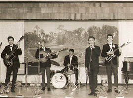 The Downtowns in 1964 featuring Paul Day and his white Burns Vibra Artists - sold in 1965 but recovered in 2008!