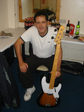 Frank and his early 50s Fender Precision replica specially made by Norway's Martin Olsen