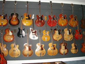 Part of Frank's guitar collection