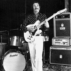 Johnny Lord (with Fender Starcaster) the one man band show (but occasionally he needed a drummer)
