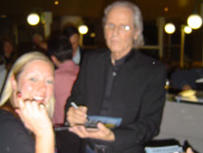 John Walker (The Walker Brothers) with Amanda – but Iona just couldn't hold that camera steady!