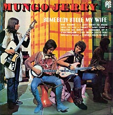 John Godfrey of Mungo Jerry pictured with the Burns Weill bass now in my collection