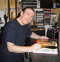"Paul Day 2006 signing my copy of ""The Ultimate Guitar Book"" which he wrote with Tony Bacon"