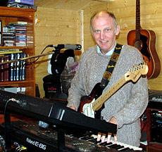 In his studio in Lincolnshire in 2008