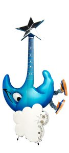 Eastwood 'Blue Moon' Guitar Front