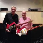 Guy Mackenzie and Bill Lovelace with their Burns Mirage vintage electric guitars