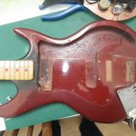 Guitar taken apart - scratchplate removed