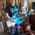 Guitar Hero Phil Walker with the Blue Moon Guitar