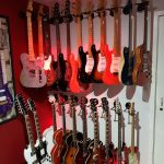 Just one part of Phil Walker's guitar collection