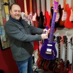 Phil Walker with a very purple guitar