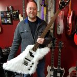 Phil Walker with a very fluffy guitar!